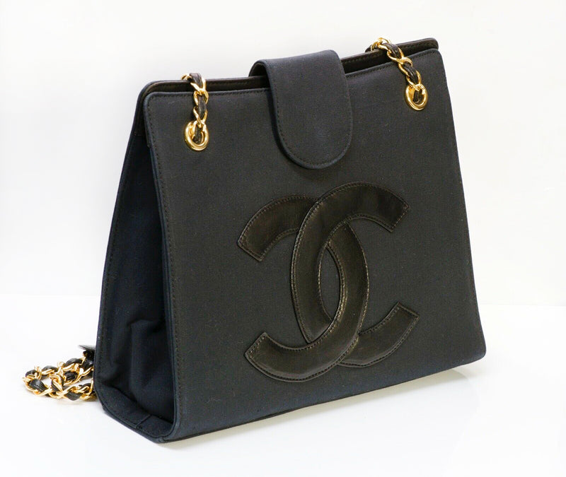 CHANEL CC Fabric Leather Chain Shoulder Bag