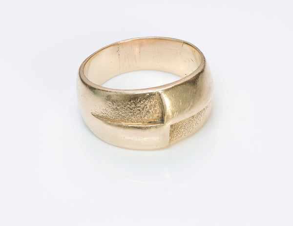 Henry Steig Arts & Crafts Gold Men's Ring