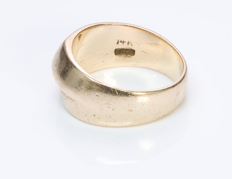 Henry Steig Arts & Crafts Gold Men's Ring-1