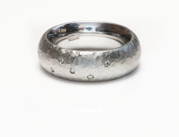 W. Haring Stahl Stainless Steel Diamond Men's Ring