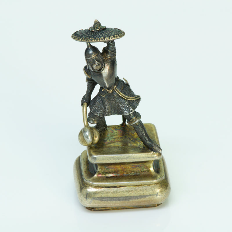 Antique Gold & Silver Warrior Seal