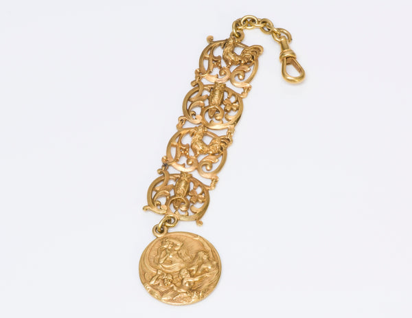 Antique Art Nouveau Gold Watch Fob