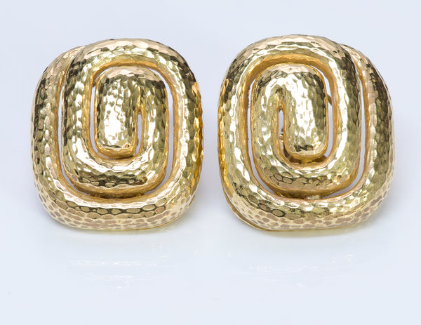 Vintage David Webb 18K Gold Earrings