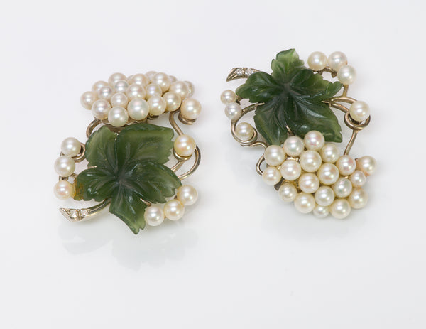 Wedderien Jade Pearl Diamond Earrings