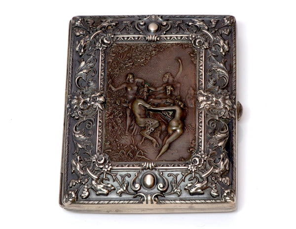 William B. Kerr Repousse Silver Bronze Case