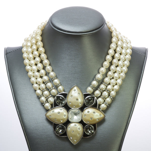 Yves Saint Laurent Pearl Crystal Necklace