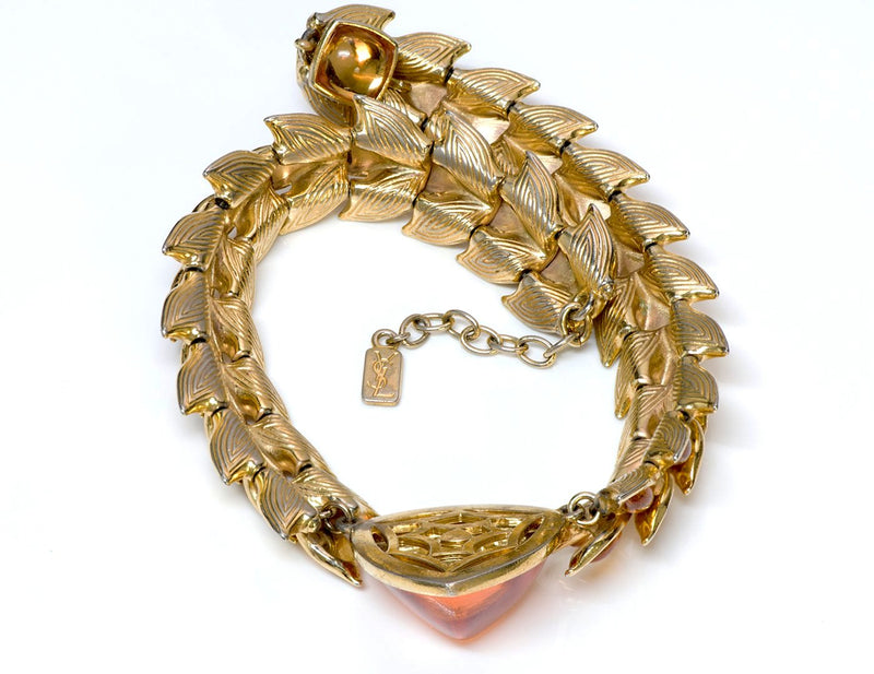 Yves Saint Laurent YSL Rive Gauche Couture Glass Necklace
