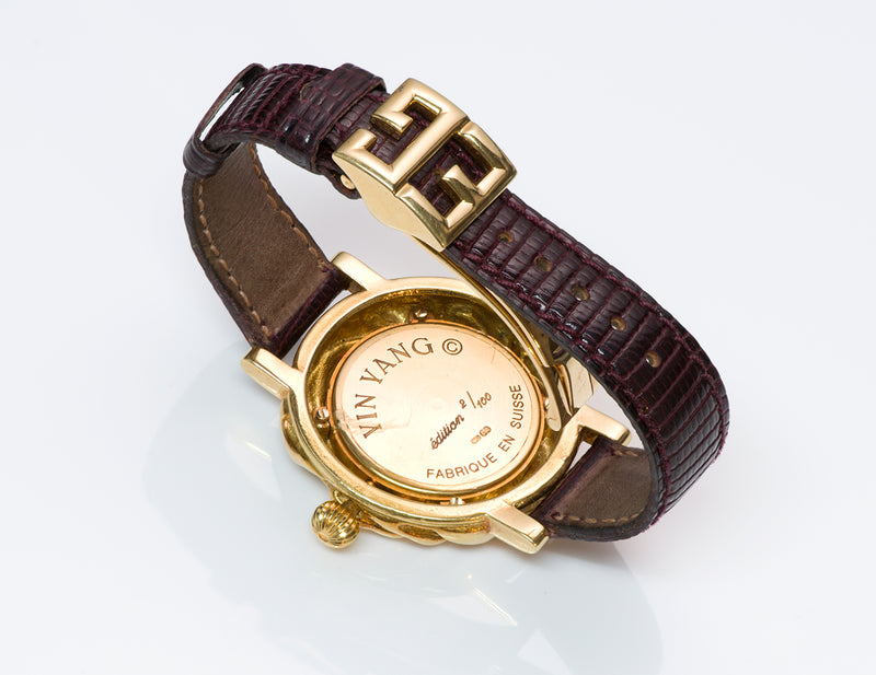 Elizabeth Gage Gold Yin Yang Watch