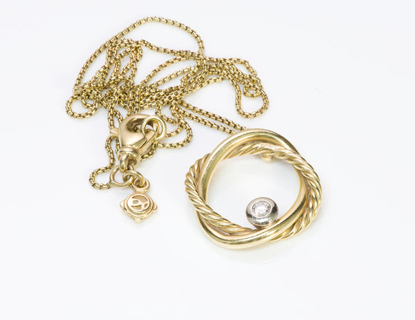 David Yurman Gold Diamond Necklace Pendant