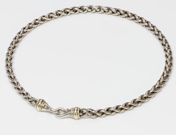 David Yurman Sterling Silver & 14K Gold Wheat Chain Necklace