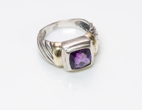 David Yurman Noblesse Amethyst 14K Gold Ring