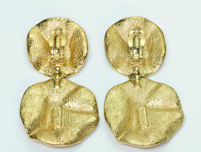 Yves Saint Laurent Enamel Earrings