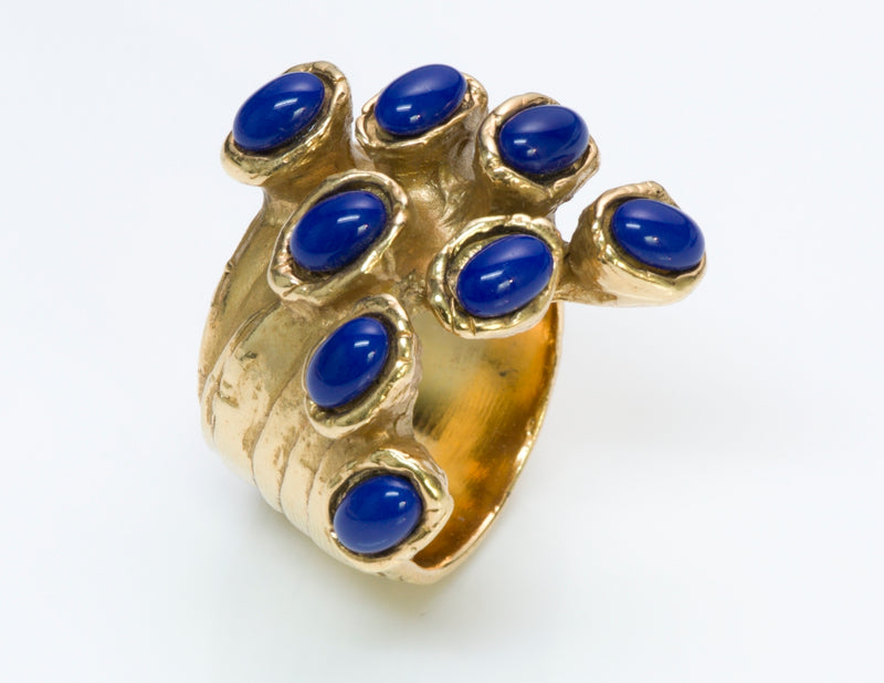 Yves Saint Laurent Blue Arty Dots Ring