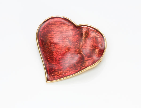 Yves Saint Laurent Heart Brooch Pendant