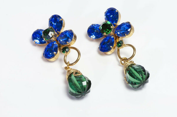 Yves Saint Laurent Rive Gauche Flower Earrings