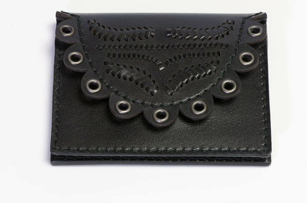 Yves Saint Laurent Tom Ford 2001 Black Leather Grommet Wallet