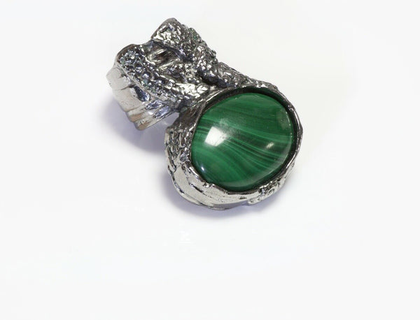 Yves Saint Laurent YSL Rive Gauche Green Arty  Ring