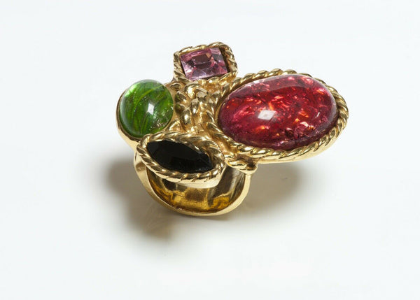 Yves Saint Laurent  Glass Cocktail Ring
