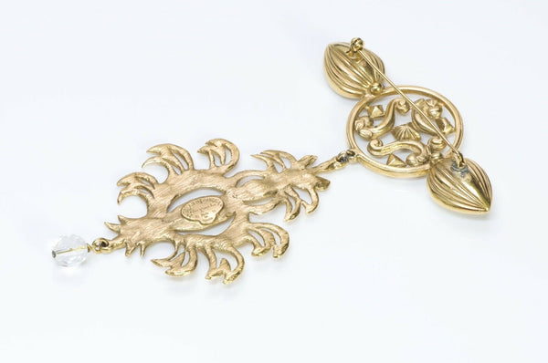Yves Saint Laurent Rive Gauche Crystal Drop Brooch