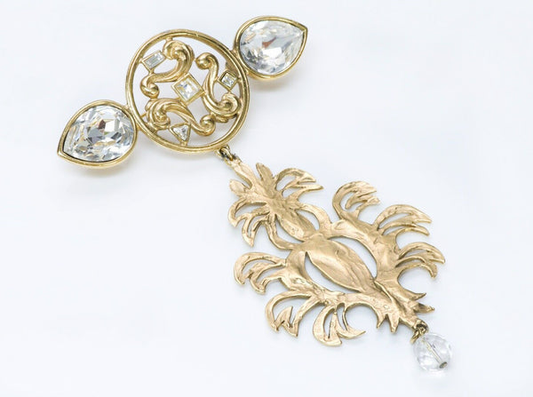 Yves Saint Laurent YSL Rive Gauche Crystal Drop Brooch