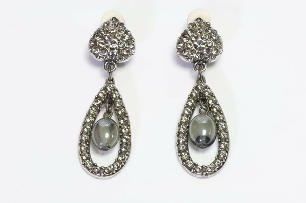 Yves Saint Laurent YSL Rive Gauche Crystal Earrings