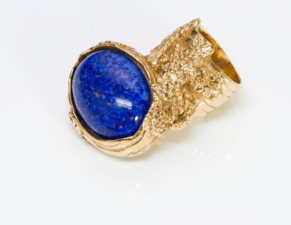 Yves Saint Laurent YSL Arty Blue Glass Ring1
