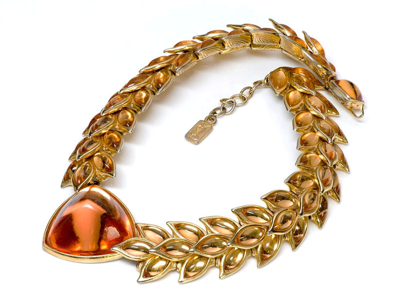 Yves Saint Laurent YSL Rive Gauche Couture Necklace