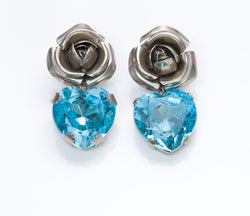 Zoe Coste Crystal Rose Heart Earrings