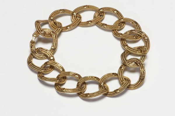 CHANEL Paris 1996 CC Woven Chain Convertible 2 Bracelets Necklace