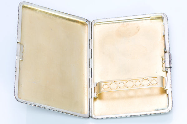 Alfred Dunhill Art Deco Sterling Silver Enamel Box Case