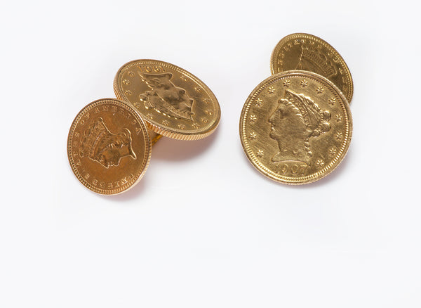 Antique 22K Gold Coin Cufflinks