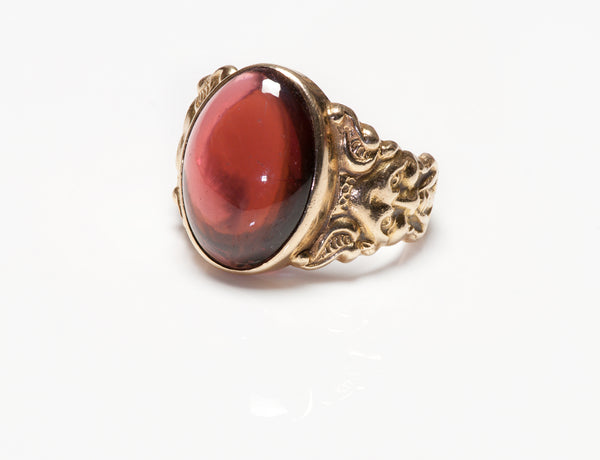 Antique Garnet Men's Ring Gold