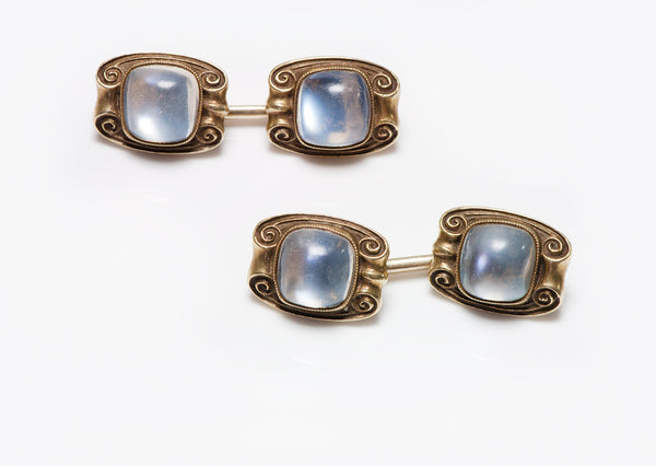 Art Nouveau Gold Moonstone Cufflinks