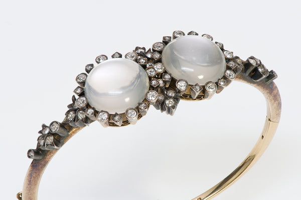 Antique Diamond & Moonstone Bracelet
