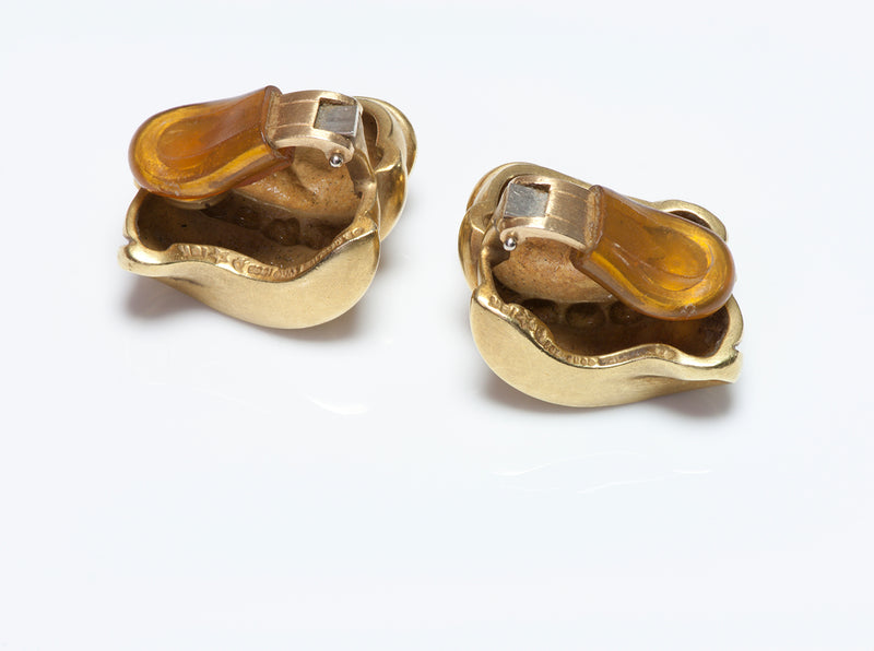 Barry K. Cord 18K Gold Earrings