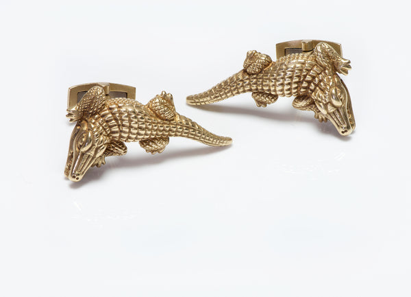 Barry Kieselstein-Cord 18K Gold Alligator Cufflinks