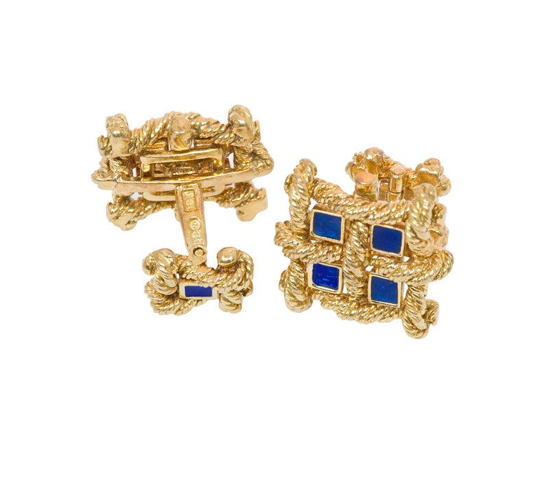 Bailey Banks & Biddle Gold Cufflinks