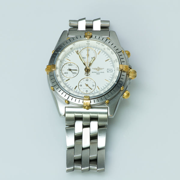 Breitling Chronomat B13047 Stainless Steel Bezel with Yellow Gold