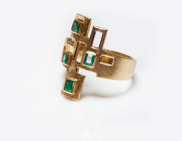 Burle Marx 18 Karat Gold Emerald Ring