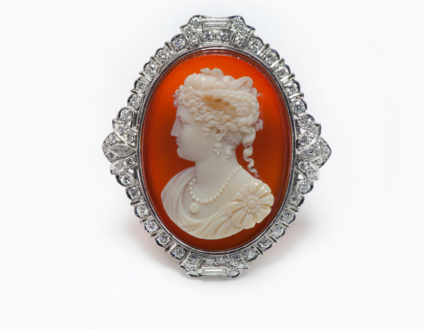 Antique Edwardian Diamond Cameo