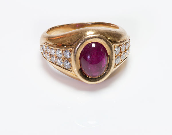 Cartier Gold Ruby & Diamond Ring