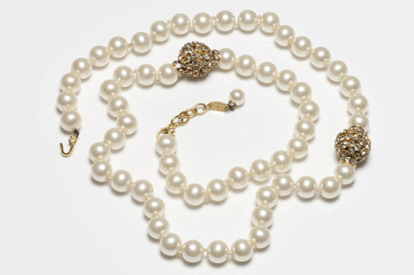 CHANEL Paris 1980's Pearl Strand Necklace
