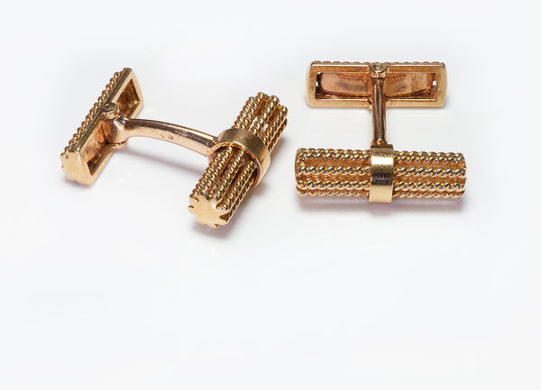 Gold Twisted Rope Cufflinks