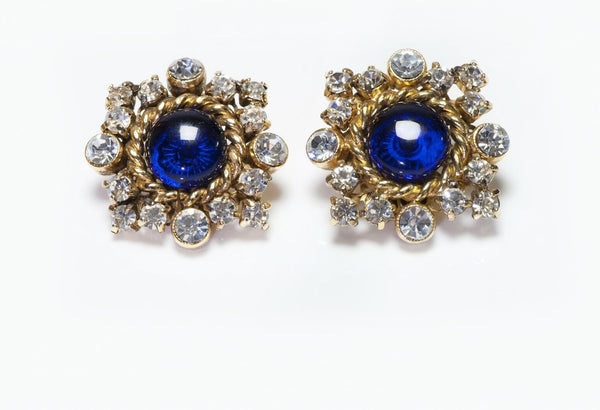 CHANEL Gripoix Snowflake Earrings