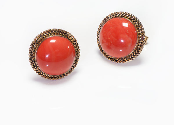 Vintage Gold Coral Men's Cufflinks