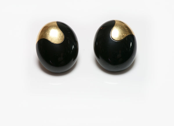 Tiffany Co. Angela Cummings Gold Onyx Earrings