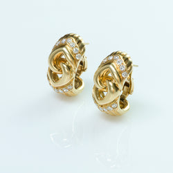 Bulgari Gold Diamond Earrings