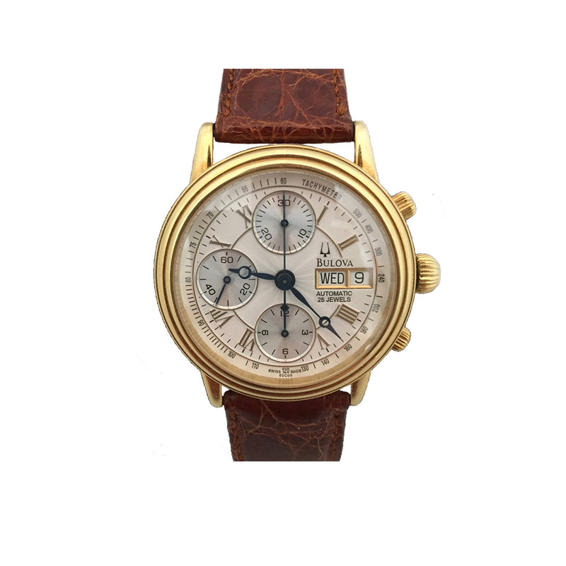 Bulova 18K Gold Collection Chronograph Watch 60C00