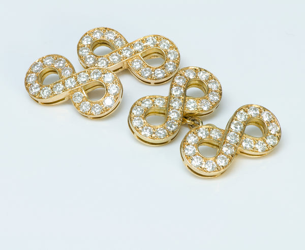 Infinity Diamond Gold Vintage Cufflinks