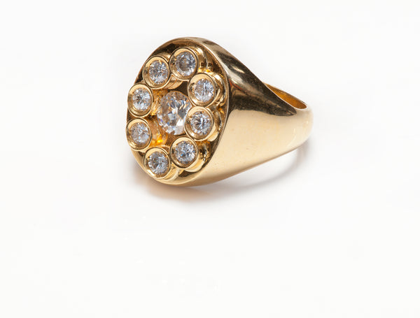 Diamond Gold Mens Ring